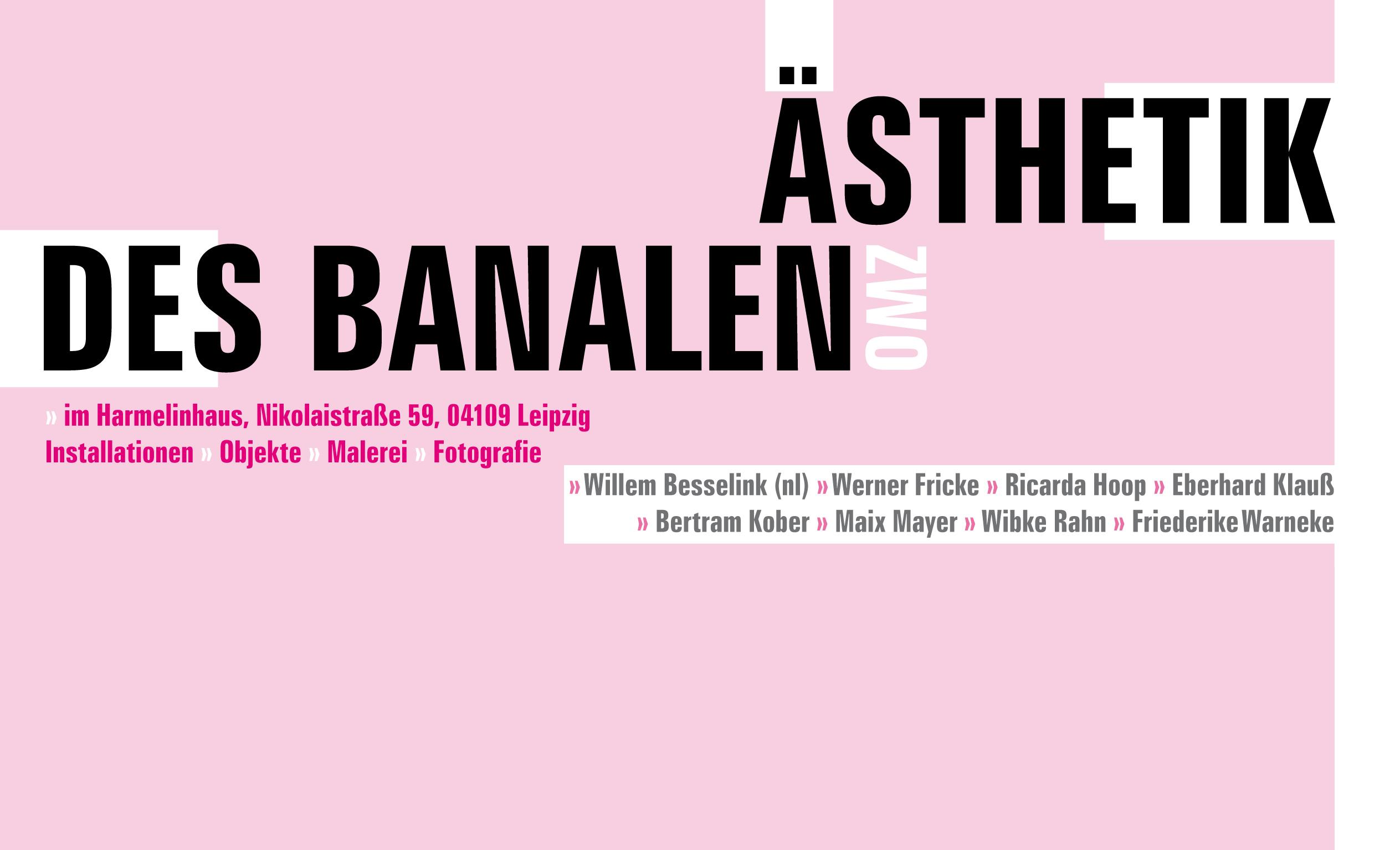 Einladung Ausstellung Ästhetik des Banalen