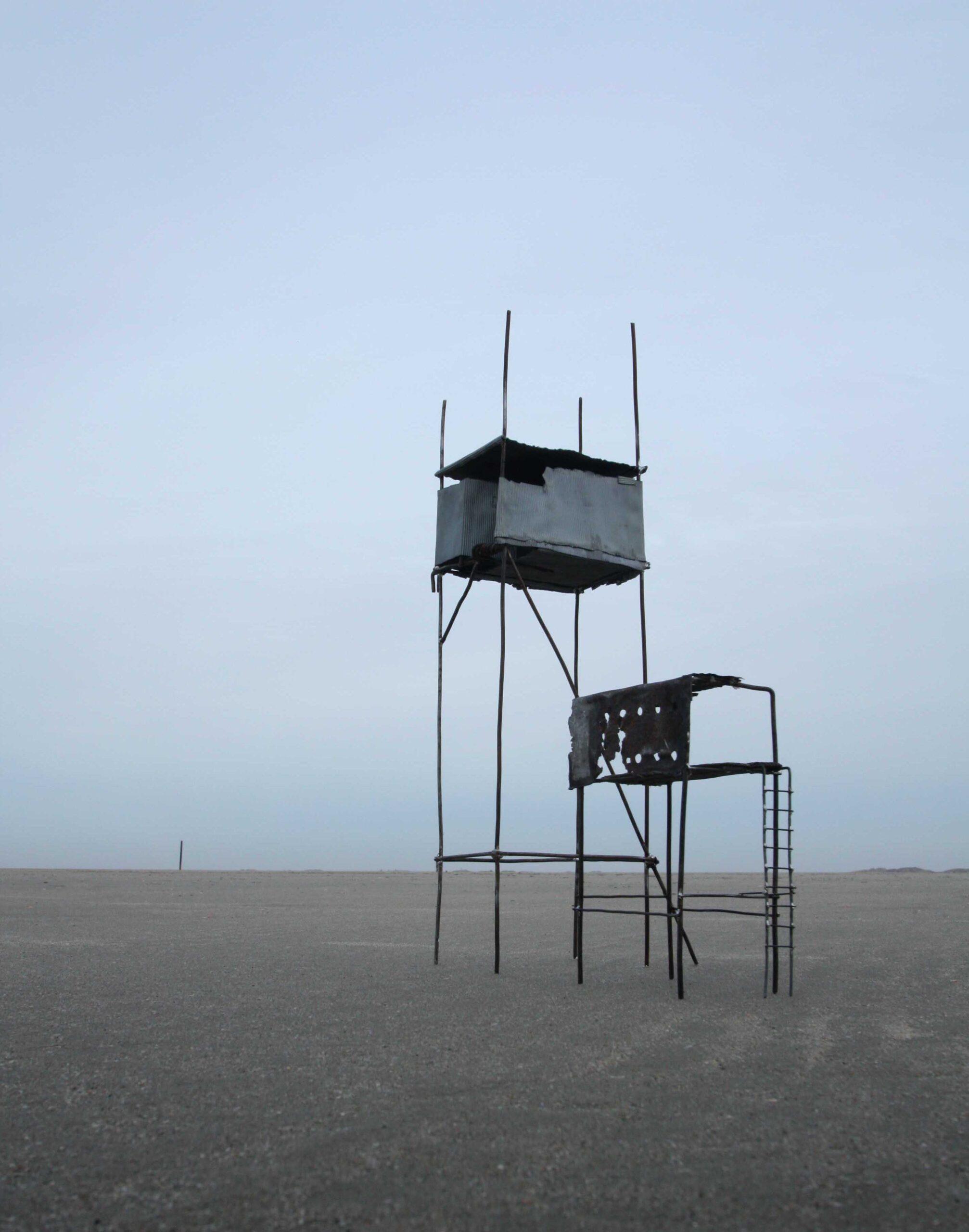 Cages in Landschaft