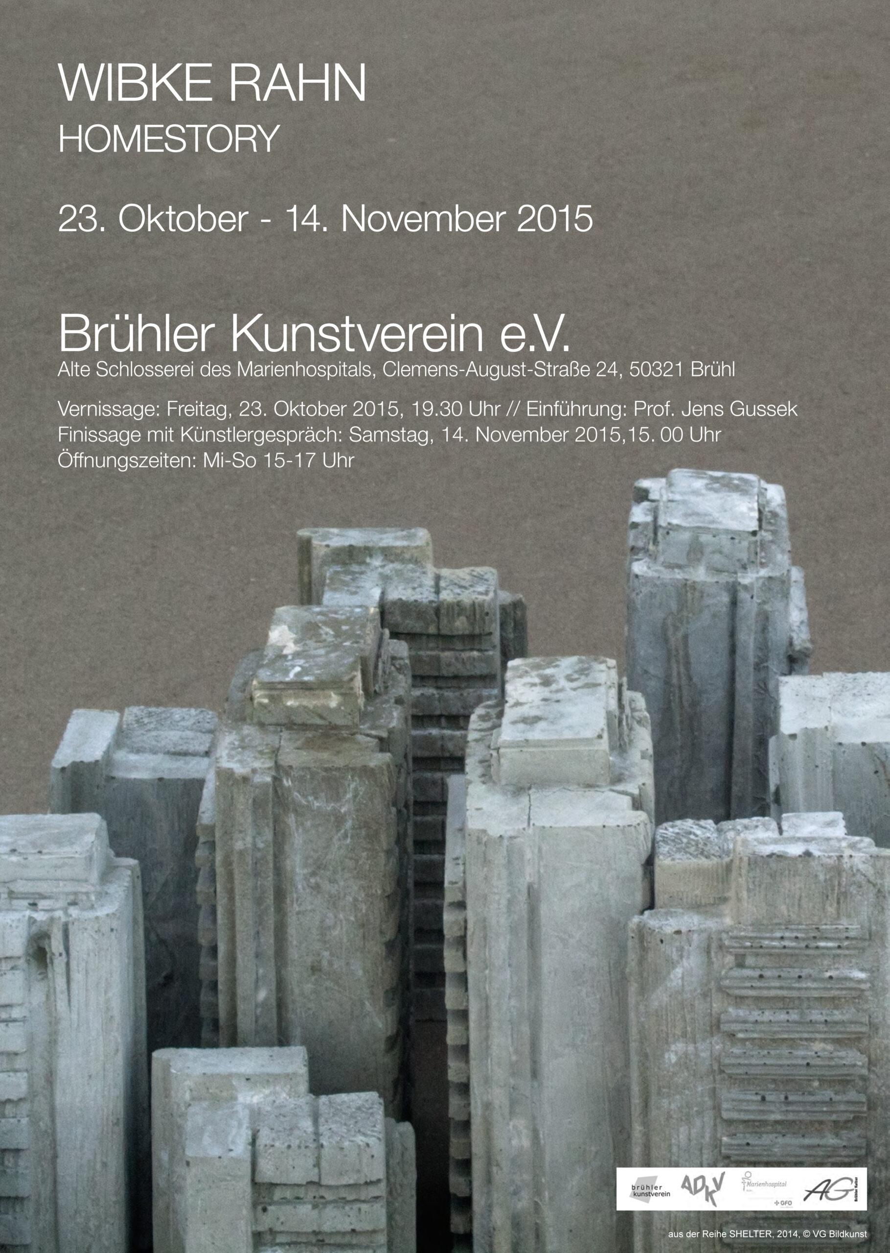 Einladung zur Ausstellung Homestory Brühler Kunstverein